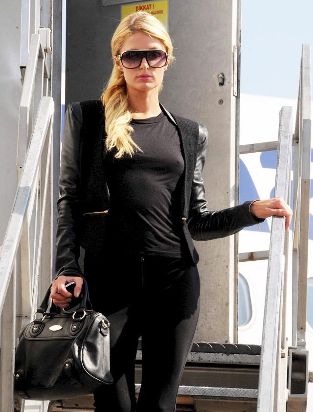 Paris Hilton Braless in Istanbul