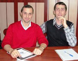 Împreună cu drd. Constantin Butnaru, CNHGS, 13.XII.2011...