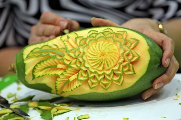 Art hd wallpaper carving of fruits and vegetables