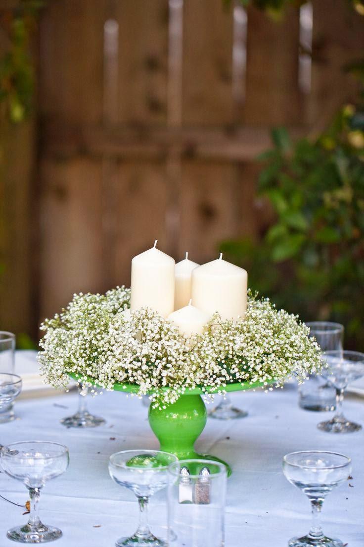 31 centros de mesa para boda con velas todo inspiraci n - Centro de mesa con flores ...