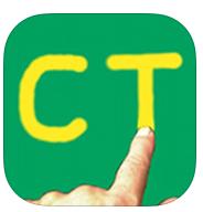 la imagen muestra un fondo verde con las letras C y T y un dedo tocando la T