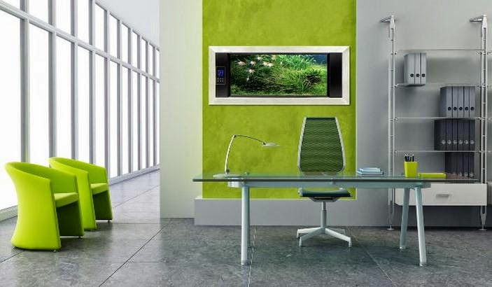 Awesome office with green color