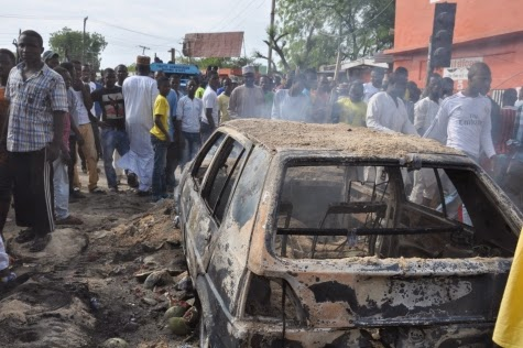 Photos: Scene of today's bomb blast in Maiduguri market2