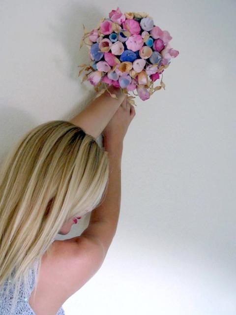 bouquet di fiori di carta per matrimoni ecosostenibili - paper bouquet boho chic