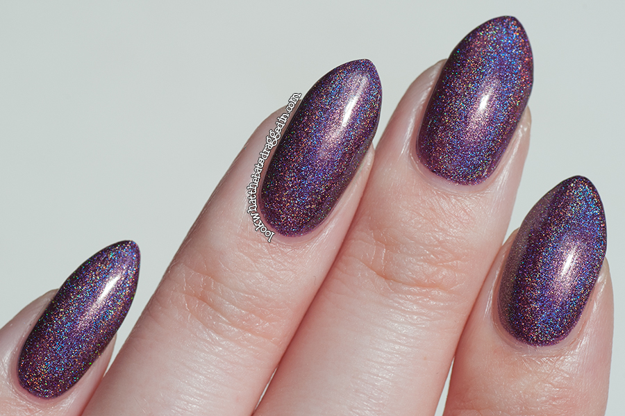 Celestial Cosmetics nail polish Elegantly Wasted swatch