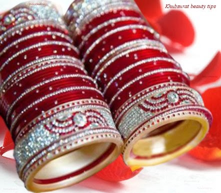 Beautiful red bangles for Indian brides 2014