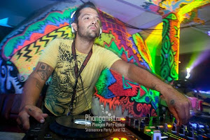performing at his new residency in koh phangan thailand SRAMANORA WATERFALL PARTY