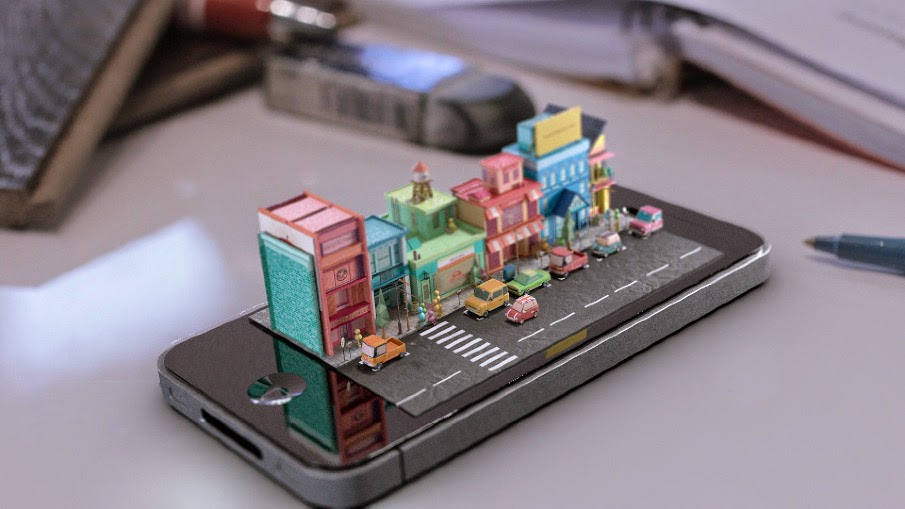 05-Apple-Phone-Mike-Ko-iPhone-Diorama-3D-Images-Hologram-www-designstack-co