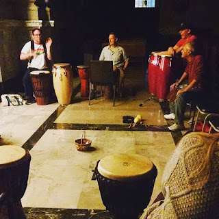 Cleveland drum circle Saint Coleman church djembe conga gypsy