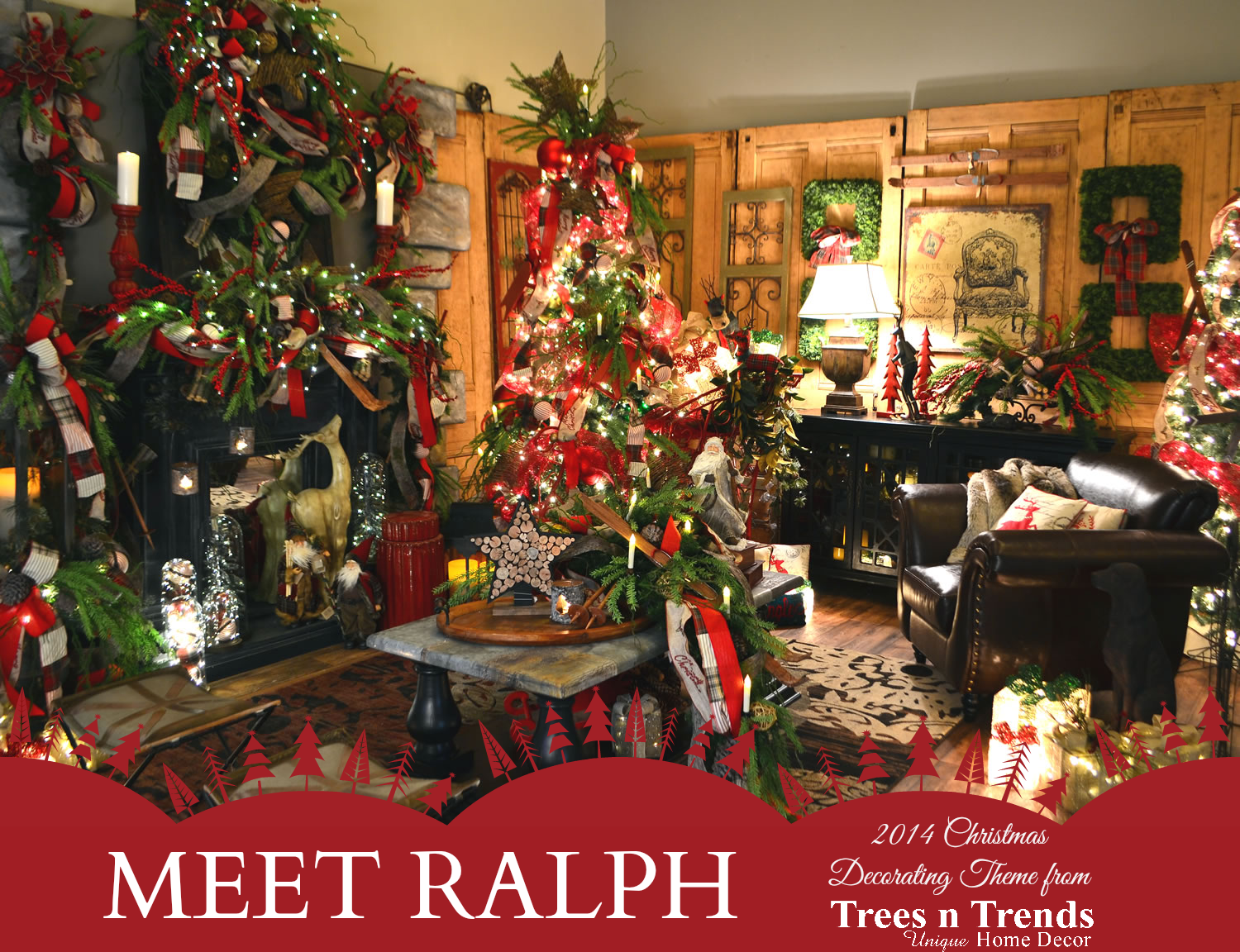 Trees n trends a christmas decorating theme for every Decorating for christmas 2014