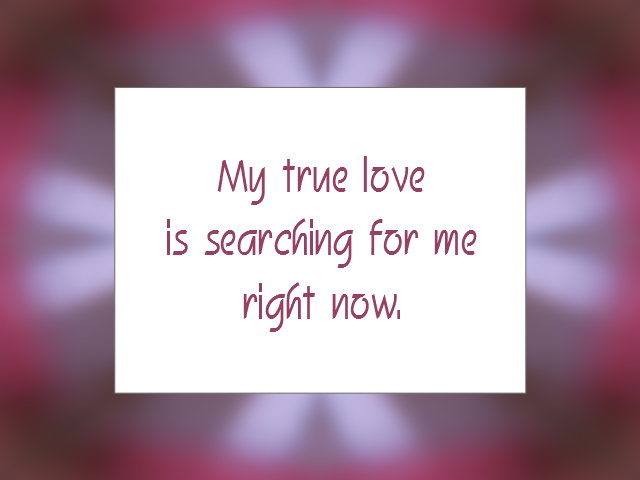 LOVE RELATIONSHIP affirmation