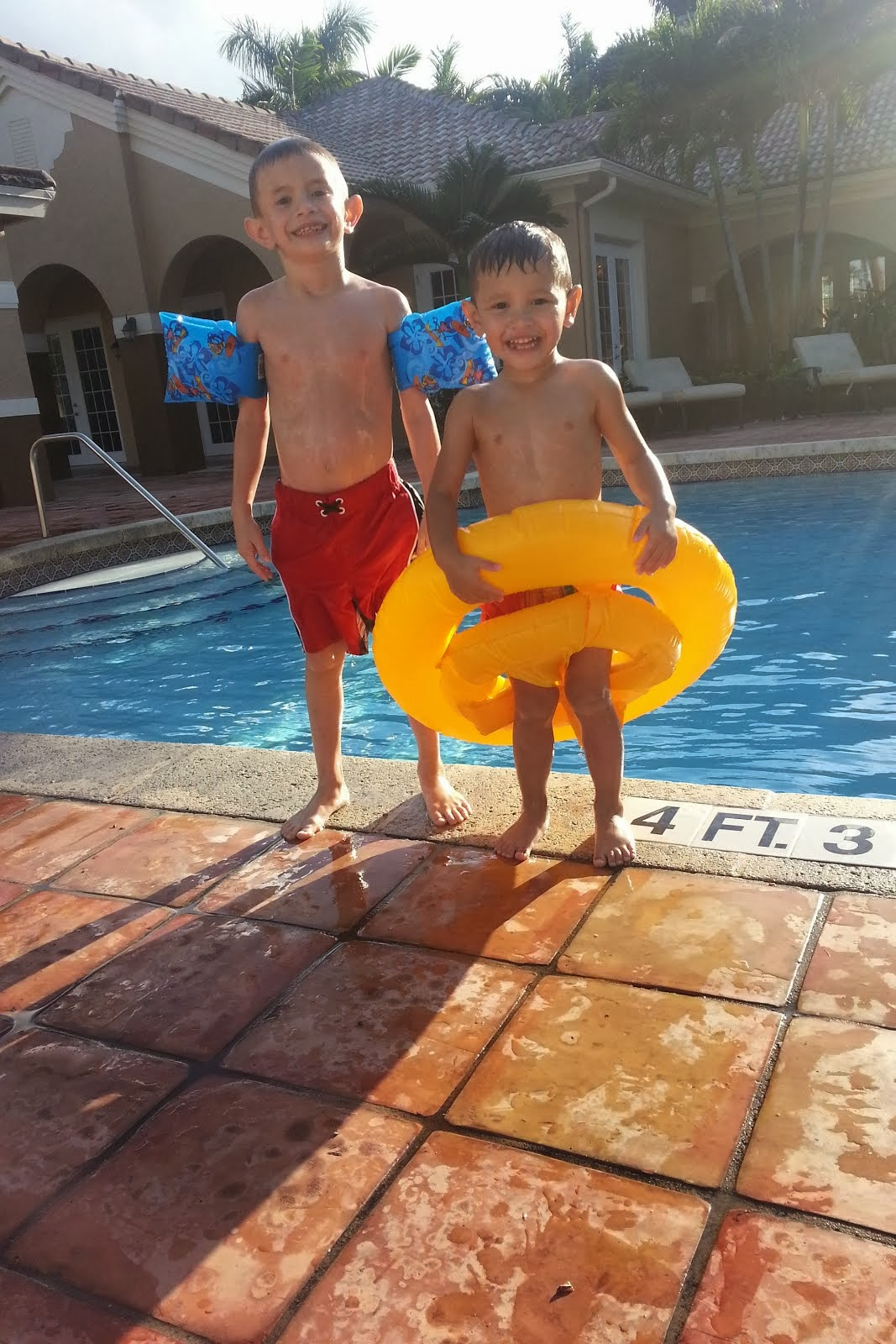 Grandsons, Dominic and Calib