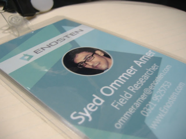 Syed Ommer Amer Field Researcher ID Card