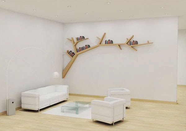 Italia design tree branch bookshelf la libreria eco secondo olivier doll - Tronco albero decorativi ...