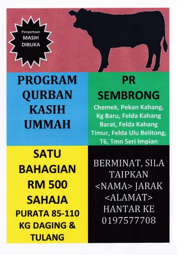 Program Qurban Pada Hari Raya Haji 2013