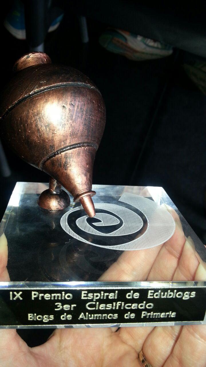 IX Edición Espiral Edublogs. Peonza de bronce
