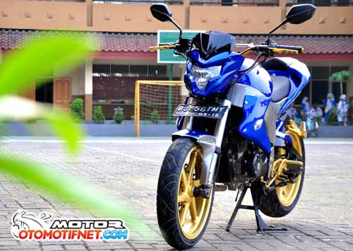Modifikasi Honda Mega Pro 2011 Street Fighter Full Body Custom