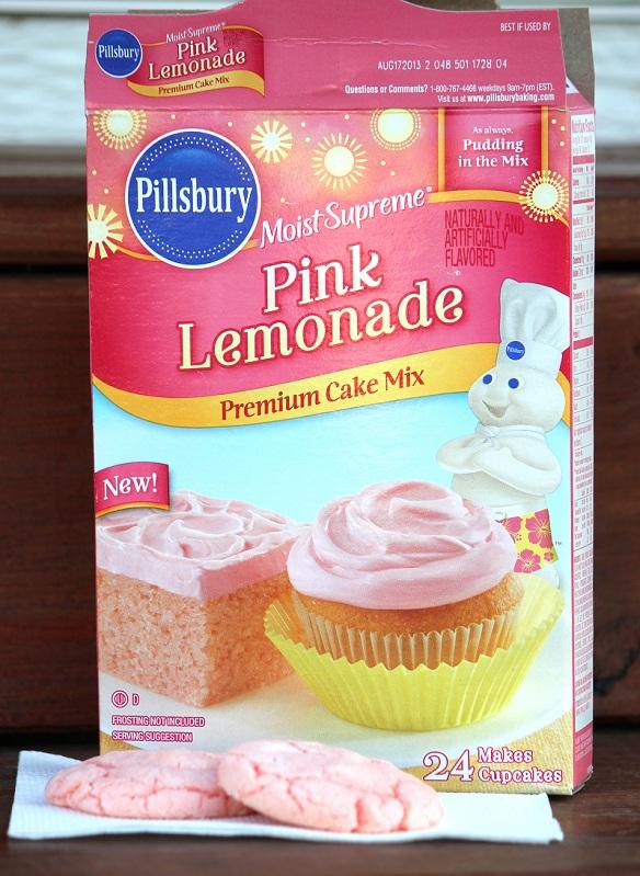 Pillsbury Pink Lemonade Cake Mix Into Cookies