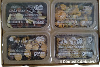 Graze Box snack coffee & walnut cake