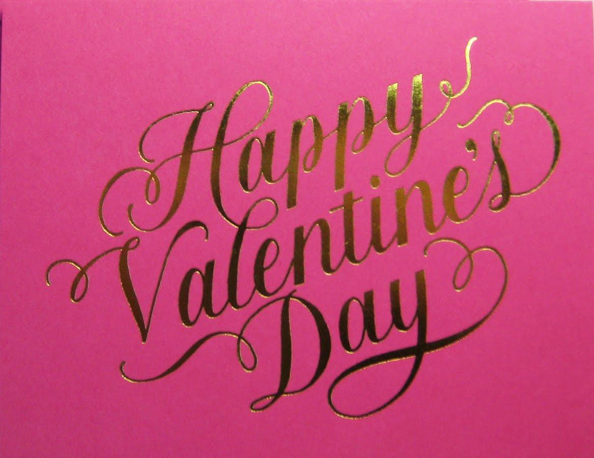A to z calligraphy valentine card take
