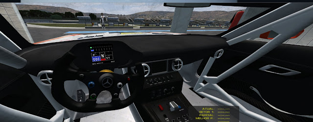 Cockpit Mercedes SLS AMG FIA GT3 rFactor