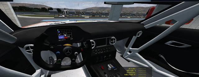 Cockpit Mercedes SLS AMG FIA GT3 rFactor