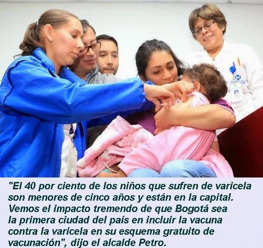 BOGOTÁ: Bogotá incluye en el POS la vacuna contra la varicela