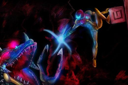 Metroid - Kraid Showdown por krizalidbrando