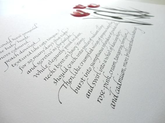 Gemma black calligraphic designer artist teacher Yukimi annand calligraphy