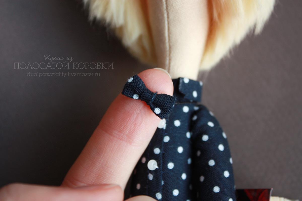 Миниатюрный галстук-бабочка для куклы