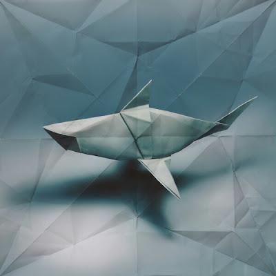 animales origami 3D ballena