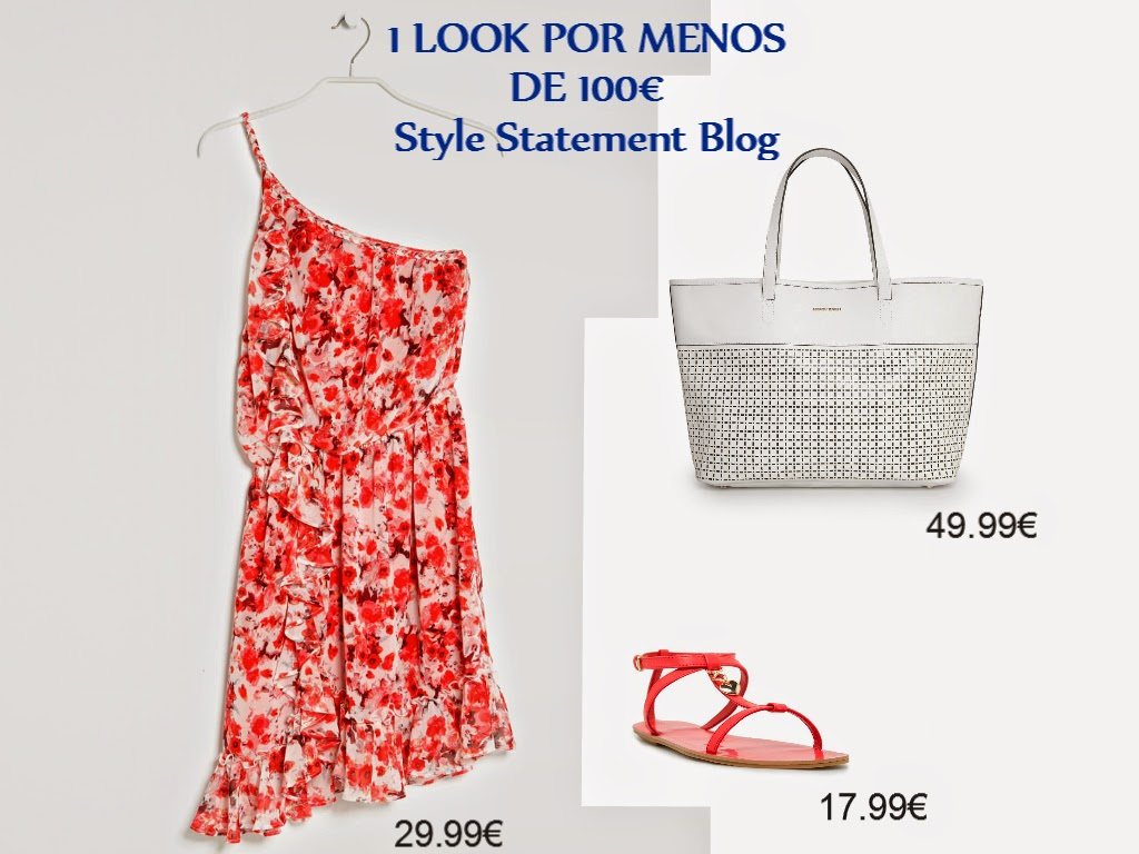 1 look por menos de 100€, tendências, primavera verão 2014, mango, vestido vermelho, mala branca, sandálias gladiadoras, fashion, moda, cores vibrantes, style statement, blog de moda, blogue de moda, blog de moda portugal, blogues de moda portugueses