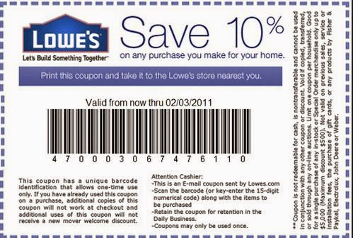 Lowes Printable Coupons March 2015
