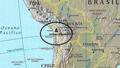 CHILE: DECRETAN ALERTA AMARILLA POR AUMENTO DE ACTIVIDAD DEL VOLCAN GUALLATIRI