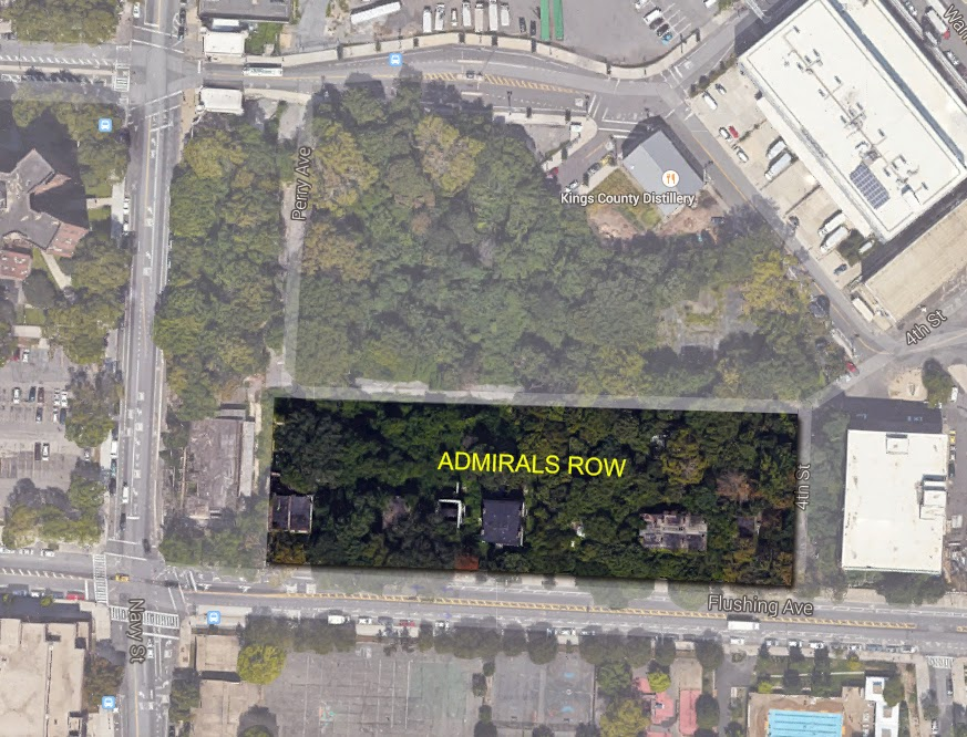 Aerial photo of Admiral's Row