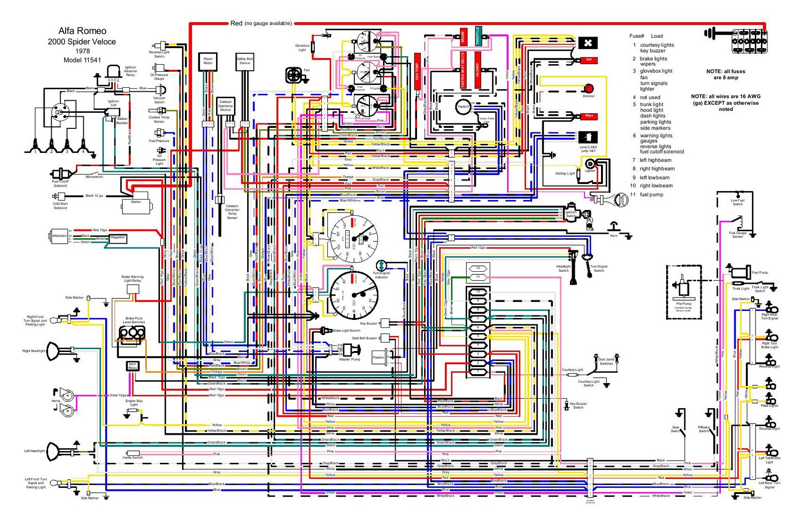 1978_Alfa_Romeo_2000_Spider_Wiring  Ford Ac Wiring Diagram on alternator electrical, fairlane alternator, mustang turn signal,