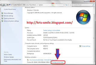 Serial Number Product Key Windows 7 + Tutorial Cara menggunakan Agar