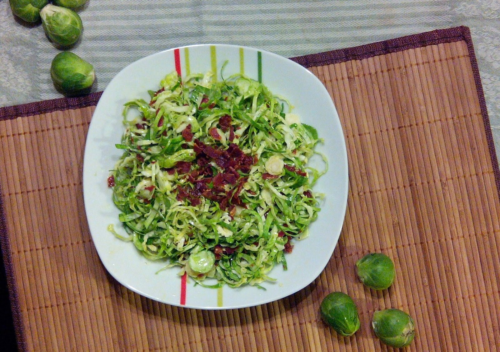 Shredded Brussels Sprouts & Prosciutto Salad