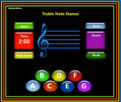Treble Note Games: LadyDpiano