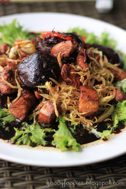 ... : Recipe: Stir fried chicken with dark soy sauce and crispy ginger