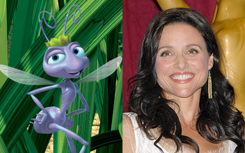 Julia Louis Dreyfus as Princess Atta in A Bug's Life disneyjuniorblog.blogspot.com