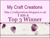 I made Top 3 at My Craft Creations