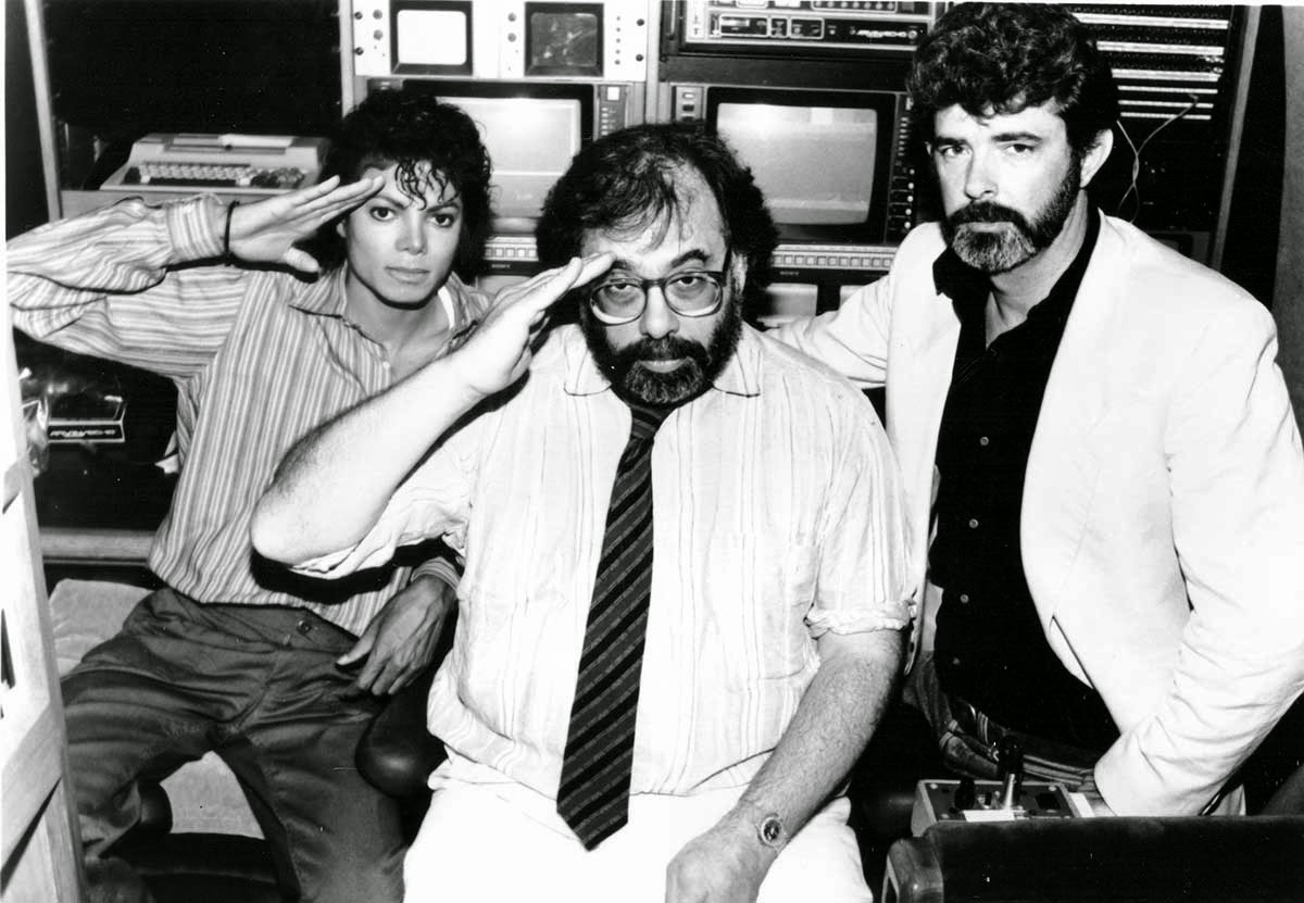 Photo of Francis Ford Coppola & his friend director  George Lucas - United States