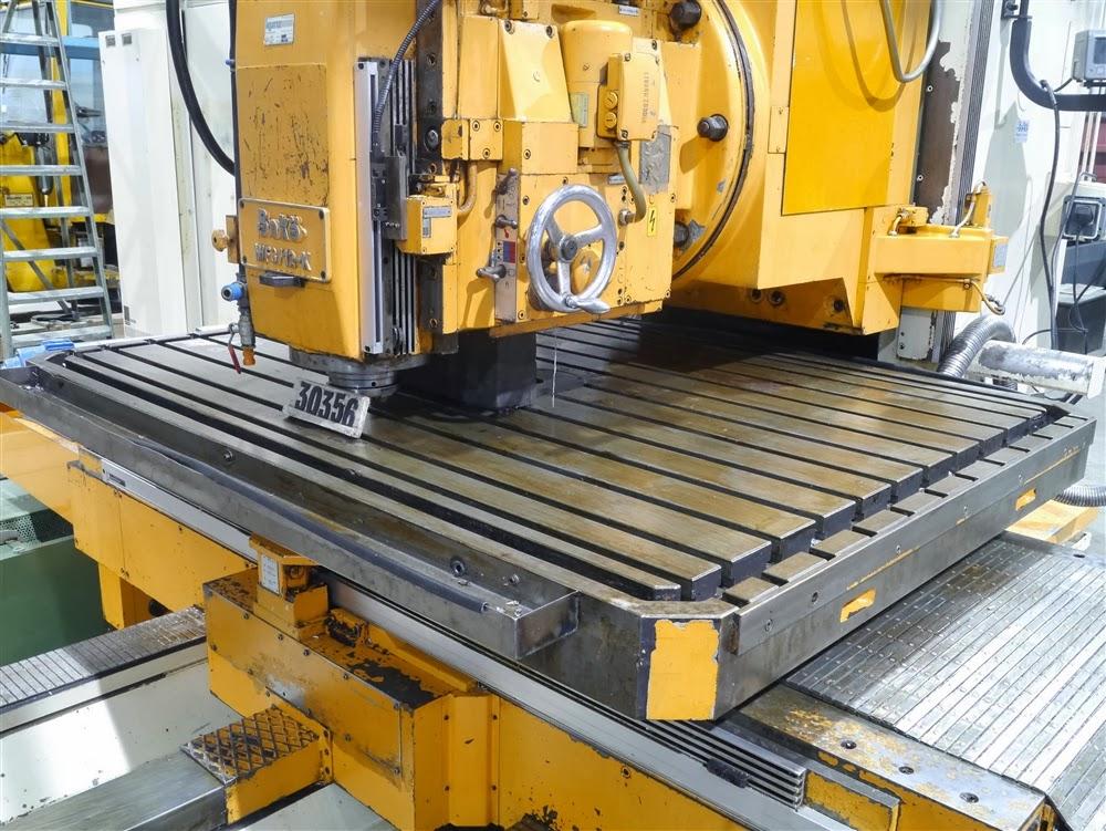 Boko CNC vertical milling machine table