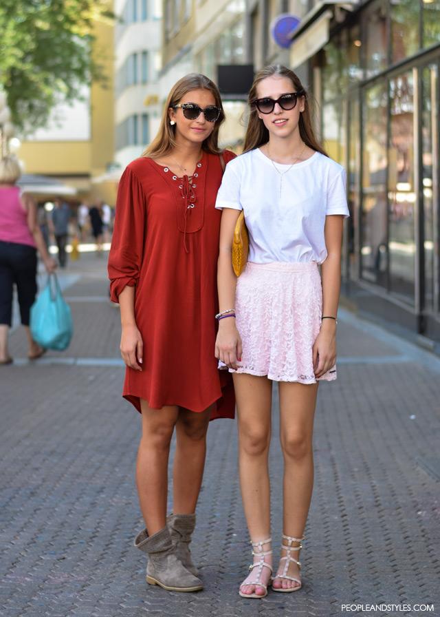 Lucija Dodić i Ivana Gašparac, Ulična moda u Zagrebu: nekoliko osunčanih stajlinga, street style fashion back to school
