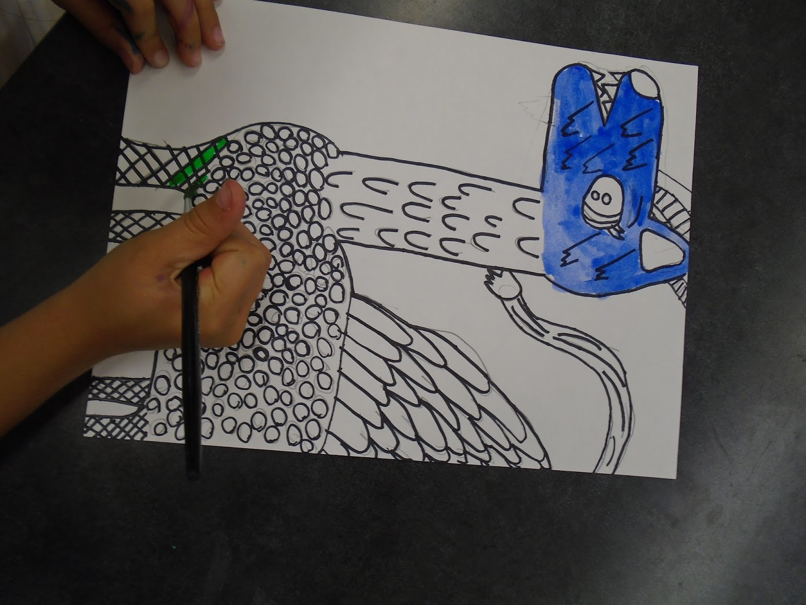 Drawing Lines In Asp : Zilker elementary art class: 2nd graders study texture