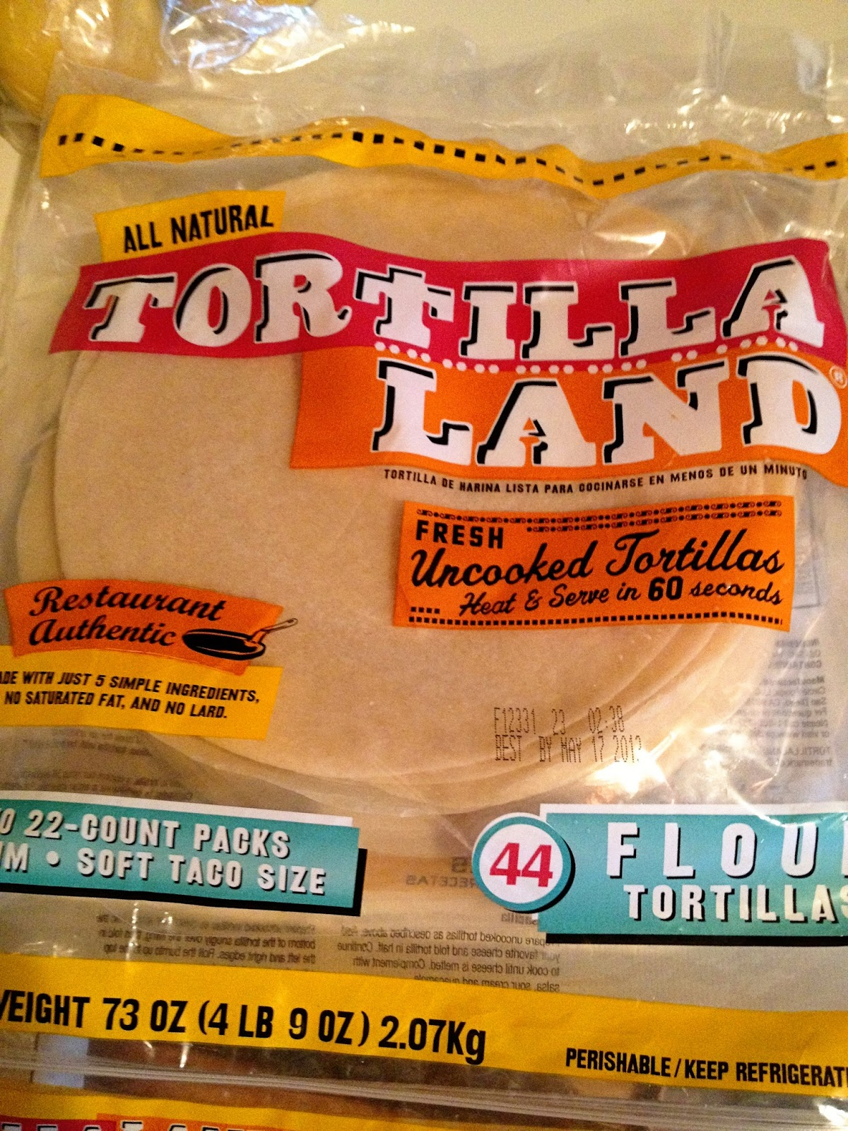 Good eats raw tortillas tortilla land from costco for Costco raw dog food
