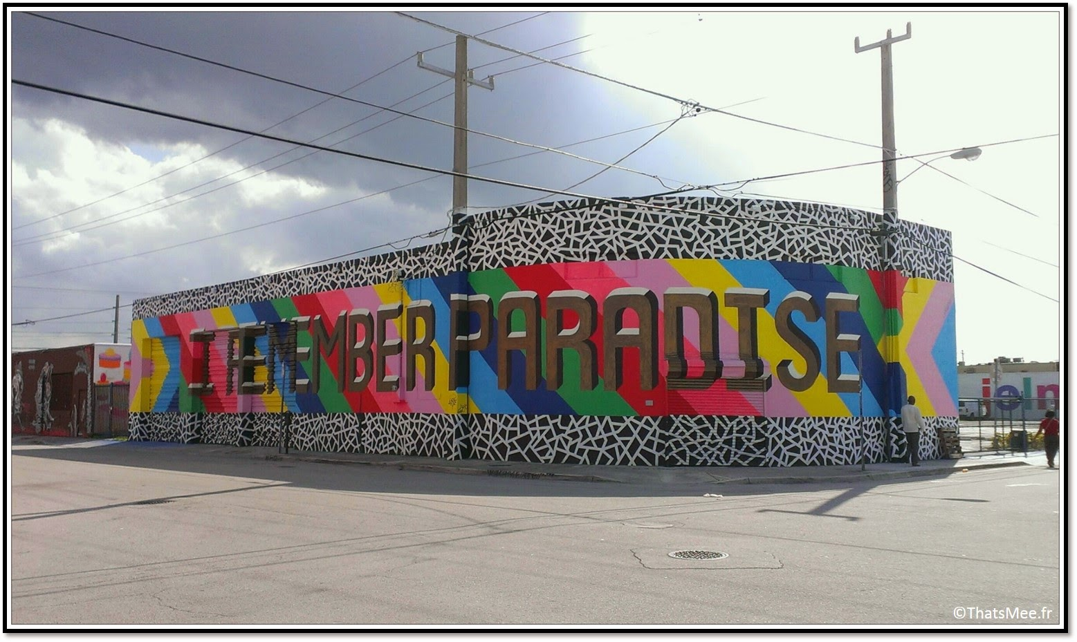 Miami midtown Wynwood District Street Art galleries NW 2nd Avenue I Remember Paradise