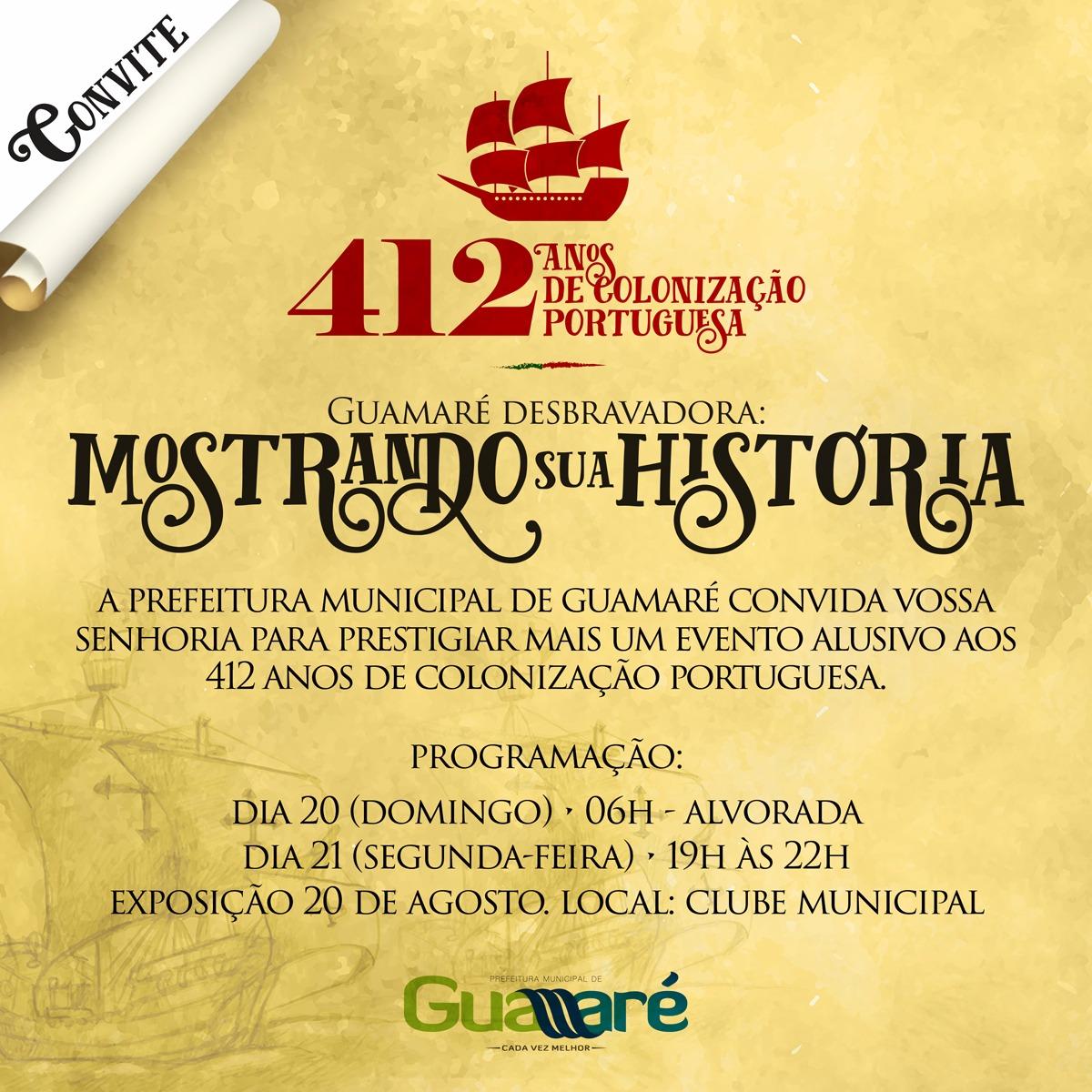 GUAMARÉ 412 ANOS DE HISTÓRIA