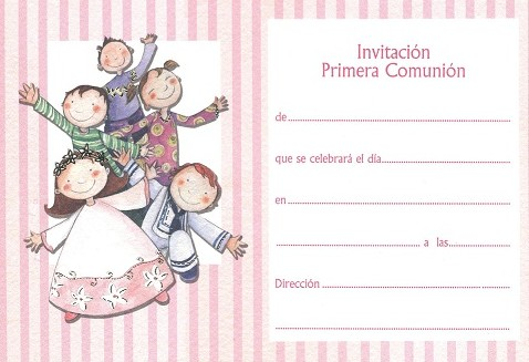 invitaciones de primera comunion para editar con foto
